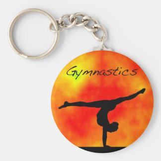 Orange Gymnastics Keychain