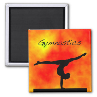 Orange Gymnastics Magnet