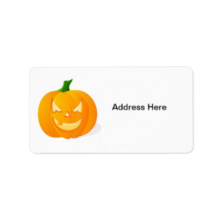 Orange Halloween Pumpkin Address Label