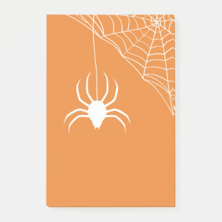 Orange Halloween Spiderweb Post-it Notes