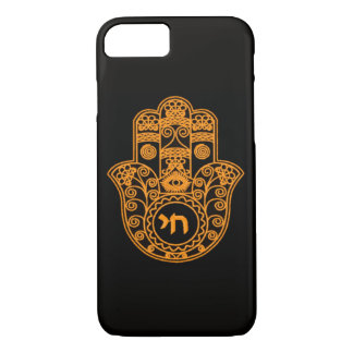 Orange Hamsa Symbol iPhone 7 Case
