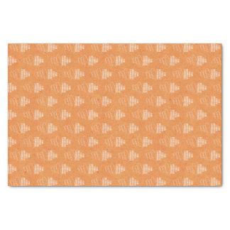 Orange Happy Birthday Tissue Paper