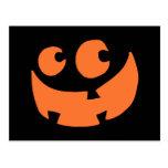 Orange Happy Halloween Pumpkin Postcard
