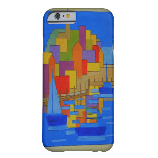orange Harbour modern cubic Barely There iPhone 6 Case