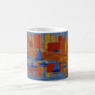 orange Harbour modern cubic Coffee Mug
