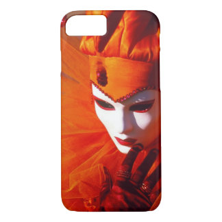 Orange Harlequin Costume - Carnival of Venice iPhone 8/7 Case