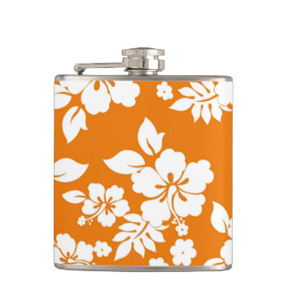 Orange Hawaiian Flask