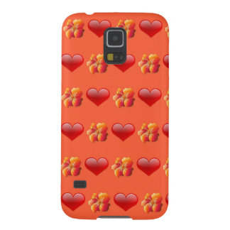 Orange Hawaiian Flower Samsung Galaxy S5 Case