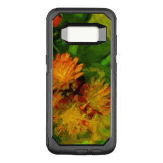 Orange Hawkweed Blossoms Abstract Impressionism OtterBox Commuter Samsung Galaxy S8 Case