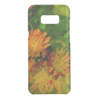 Orange Hawkweed Wildflower Abstract Impressionism Uncommon Samsung Galaxy S8 Plus Case