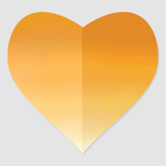 Orange Heart Petal Sticker