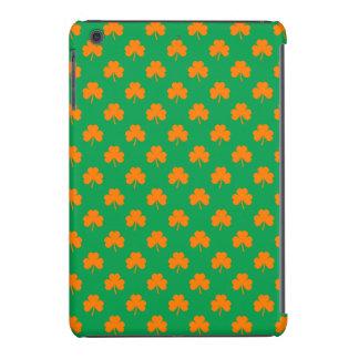 Orange Heart Shamrocks on Irish Green St.Patrick's iPad Mini Retina Cover