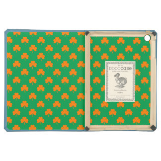 Orange Heart Shamrocks on Irish Green St.Patrick's Case For iPad Air
