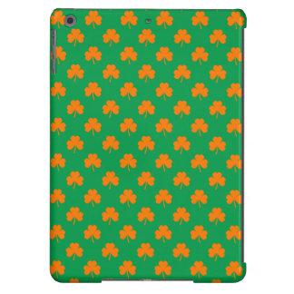 Orange Heart Shamrocks on Irish Green St.Patrick's Cover For iPad Air