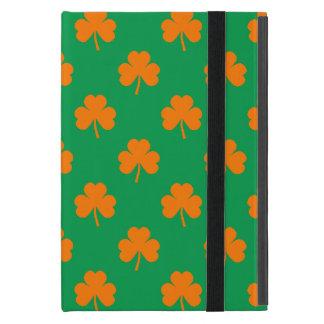 Orange Heart Shamrocks on Irish Green St.Patrick's iPad Mini Covers