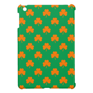 Orange Heart Shamrocks on Irish Green St.Patrick's iPad Mini Cover