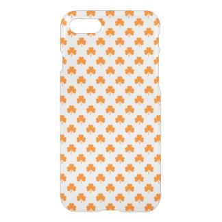 Orange Heart Shaped Clover on White St. Patrick's iPhone 7 Case