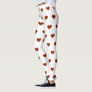 Orange Hearts Leggings