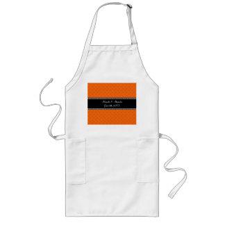 Orange hearts wedding favors apron
