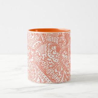 Orange Henna Mug