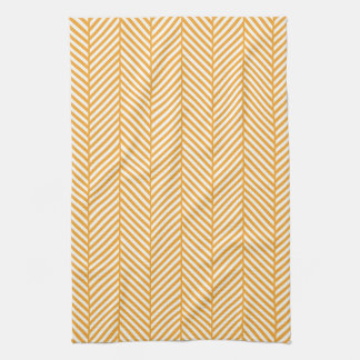 Orange Herringbone Towel