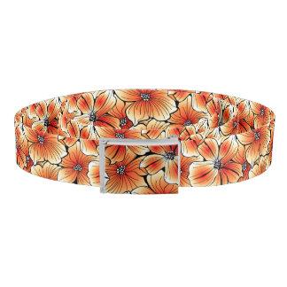 Orange hibiscus belt