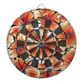 Orange hibiscus dartboard