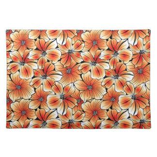 Orange hibiscus placemat