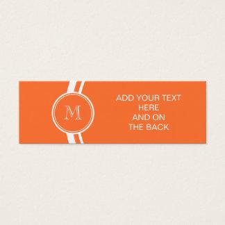 Orange High End Colored Monogrammed Mini Business Card