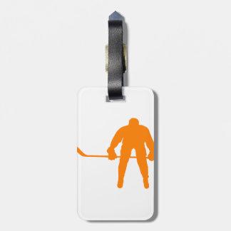 Orange Hockey Luggage Tag