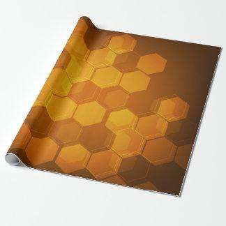 Orange honeycomb hexagon pattern