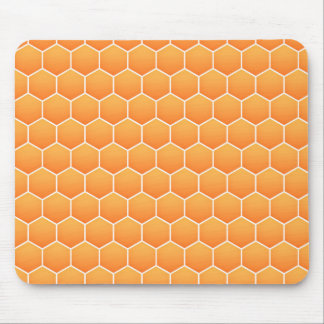 Orange honeycomb pattern mouse pad