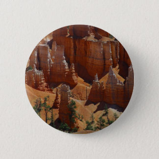 Orange Hoodoos Bryce Canyon Sand Deserts 6 Cm Round Badge
