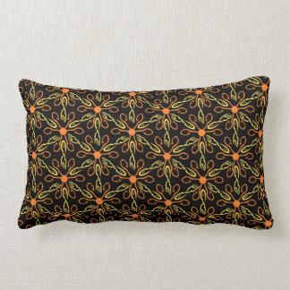 Orange Hook Yellow Hook Yellow Fish Flower Pattern Lumbar Cushion