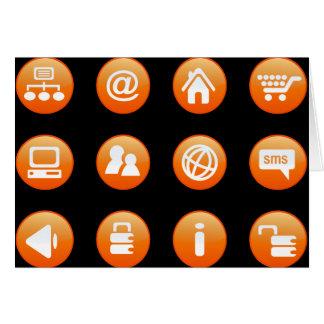 Orange Hot Keys Cards