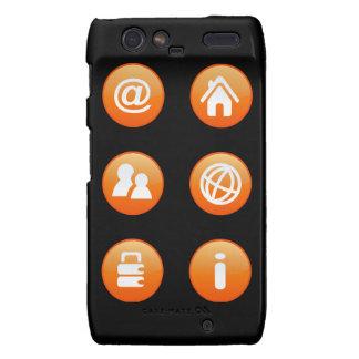 Orange Hot Keys Droid RAZR Covers