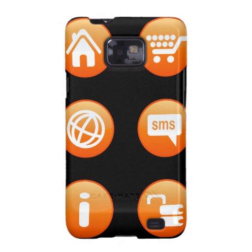 Orange Hot Keys Samsung Galaxy SII Case