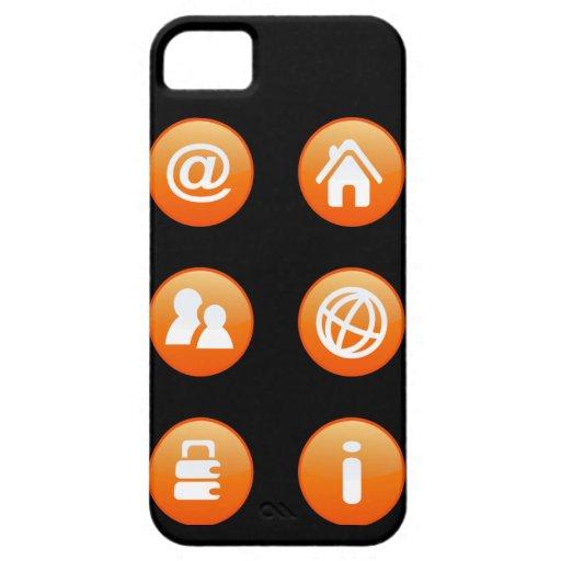 Orange Hot Keys iPhone 5 Covers