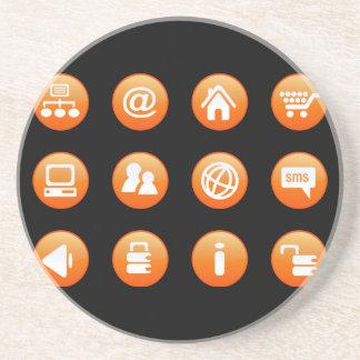 Orange Hot Keys Coaster