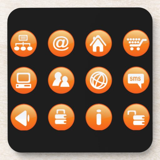 Orange Hot Keys Beverage Coaster
