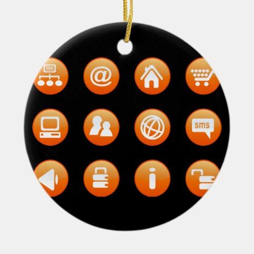 Orange Hot Keys Christmas Tree Ornament