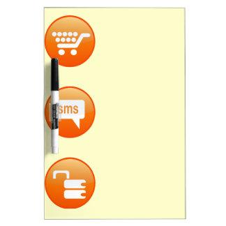 Orange Hot Keys Dry-Erase Board