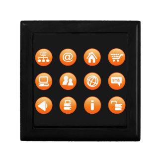 Orange Hot Keys Trinket Boxes