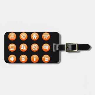 Orange Hot Keys Bag Tags
