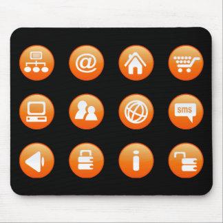 Orange Hot Keys Mousepads