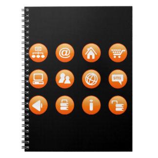 Orange Hot Keys Notebooks