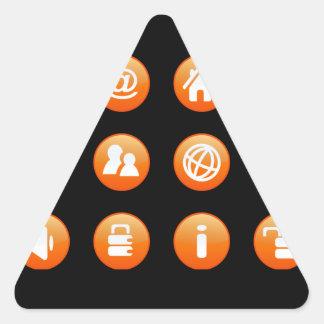 Orange Hot Keys Triangle Stickers