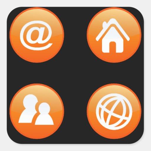 Orange Hot Keys Sticker