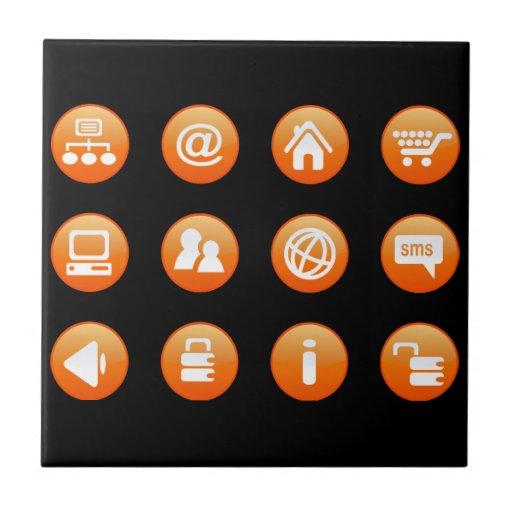 Orange Hot Keys Ceramic Tiles