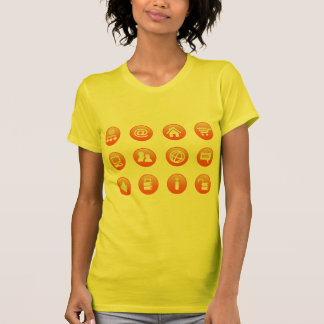 Orange Hot Keys T Shirts